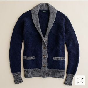 J. CREW   colorblock cardigan sweater wool NEW S
